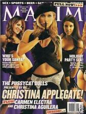 Maxim Magazine December 2002 Christina Applegate Aguilera Carmen Electra