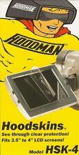 """HOODMAN HSK-4 HOODSKINS - LCD 3.5""""- 4"""" SCREEN PROTECTORS - 12 PACK"""