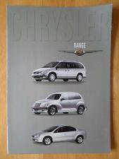 CHRYSLER 2000 range UK Mkt sales brochure - Neon PT Cruiser Voyager