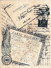 Carte Postale Post Card Collage   Recollections W/M  Rubber Stamp Free Shipping