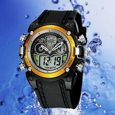 Ohsen AD0721 Watch Multifunction Digital & Analogue Water Resistant Sport Gold