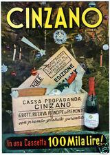 CINZANO-cassetta propaganda-100 MILA LIRE-premio-1941
