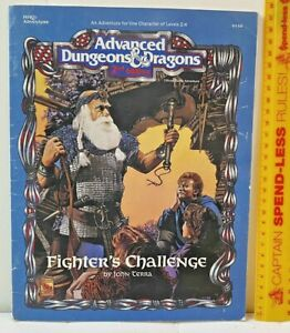 FIGHTER'S CHALLENGE ADVANCED DUNGEONS & DRAGONS ADVENTURE TSR AD&D 9330 HHQ1