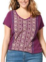 Sonoma ladies top t-shirt plus size 18/20 22/24 26/28 pure cotton ethnic print