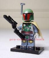 Boba Fett Star Wars Minifigure +Stand The Mandalorian Bounty Hunter Clone Wars