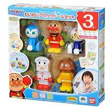 NEW Block Doll set (Anpanman World Block Series)Japan Toy F/S