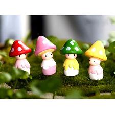2016 Cute Mini Resin Mushrooms Fairy Garden Bonsai Doll House Decor Toy Nice ATA