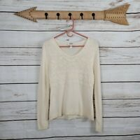 Talbots | Petite Ivory Lambswool Cashmere Beaded V-Neck Sweater Size Petite...