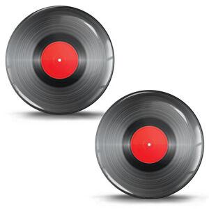 3D Silikon Aufkleber Schallplatte Vinyl Scheibe Musik Sticker Logo Auto Motorrad