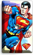 SUPERMAN SUPERHERO LIGHT DIMMER VIDEO CABLE WALL PLATE COVER BOYS BEDROOM DECOR