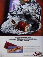 PUBLICITÉ 1967 TABLETTE MILKA CHOCOLAT AUX NOISETTES ENTIÈRES - ADVERTISING