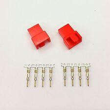 Pk de 2-Macho 4 Pin Fan Conector De Alimentación-Color Rojo Inc Pins