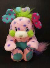 Popples Polka Dottie Plush Stuffed Animal Toy 2001 pink