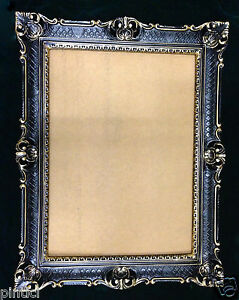 Cadre D'Image Baroque or Noir Haut Ancien 90x70 Cadre D'Image Grand
