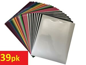 "10- 39 Sheets 12""x10"" HTV Iron On Heat Transfer Vinyl Bundle for T-Shirts Cricut"