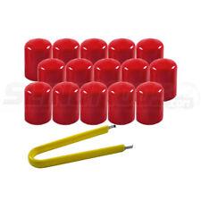 SlingLugz Colored Vinyl Lug Nut Covers for the Polaris Slingshot (15 Pack) Red