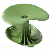 Contoured Rocker Seat Adjustable Height Tools Ergonomic Curved Green Garden NEW