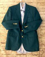 Mens Andhurst Wool Blazer, Sport Coat, Jacket, Aqua Blue, Size 41 Regular