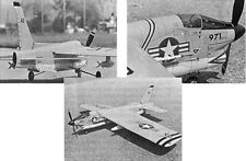 "Model Airplane Plans (Uc): F-8 Crusader 59"" Stunt for .35 Engine by Vic Macaluso"