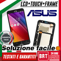 DISPLAY LCD+TOUCH SCREEN+FRAME PER ASUS ZENFONE GO 4G LTE ZB551KL X013D NERO 24H