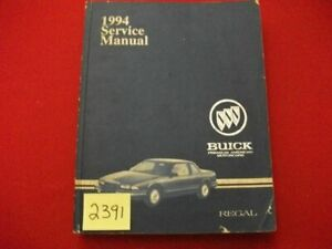 1994 FACTORY ISSUED BUICK REGAL CHASSIS SERVICE/REPAIR MANUAL ALL MODELS VGC.