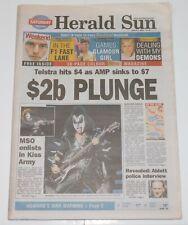 KISS Band Symphony Concert Herald Sun Australia Aussie Newspaper Magazine 2003