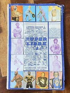 Mexican lucha Libre Album 1970 Wrestling Arena Mexico Very rare Santo Blue Demon