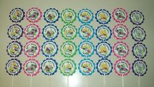 32 SPLASH and BUBBLES  Personalized cupcake toppers birthday party favors