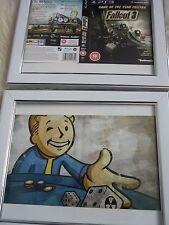 Fallout 3 & New Vegas Doble Cara ps3 Mangas montado en la pared Enmarcado