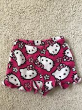 Kid girls Hello Kitty Fuzzy Shorts size 8