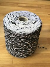 900 Gram Cone Fancy Ladder Yarn In Black And White . Made In Italy.