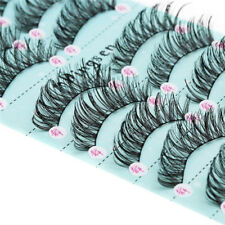 10 Pairs Luxurious 3D False Eyelashes Cross Natural Long Thick Eye Lashes Makeup