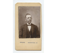 CDV STUDIO PORTRAIT MAN IN NICE SUIT FROM QUAKERTOWN, PA, BY WEIDNER