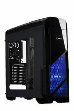 Rosewill NAUTILUS ATX Case Mid Tower Case Blue LED Fan / Gaming Case for PC