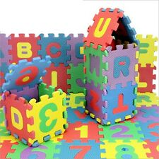 36Pc/Pack Baby Kids Alphabet Number EVA Foam Playing Mat Puzzle Jigsaw Pad Rug