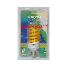LAMPADA ORIONE E27 25W COLORE GIALLO LAMPADINA COLORATA RISPARMIO CLASSE A RGB