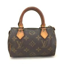 100% Authentic Louis Vuitton Monogram Mini Speedy Hand bag /a434