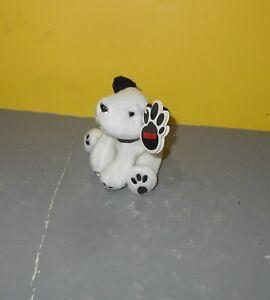 "Promotional RCA Chipper Mini 4"" Black White Puppy Series 1 Bean Plush w/ Tag"