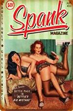 Spank Magazine Pin-Up  Metal Sign