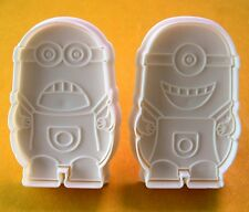 Minions pastry biscuit mold plastic cookie cutter 2 pcs set