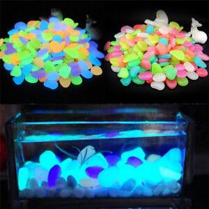 10X/Bag Colorful Glow in The Dark Stones Pebbles Rock For Fish Tank Aquarium-M1