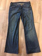 7 For All Mankind Dojo Women's Flare Blue Jeans Size 28 Stretch Inseam 30