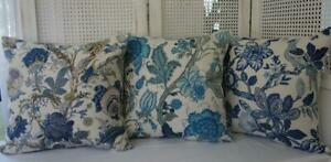 Mix & Match Hamptons Jacobean Florals Lounge Bed Linen Look Cushion Cover