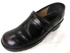 Sanita Professional Clog Women size 41 10-10.5 Black Leather Shoes