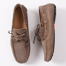 NIB $950 KITON Light Brown Calf Suede Driving Moccasins Loafers US 9.5 Shoes
