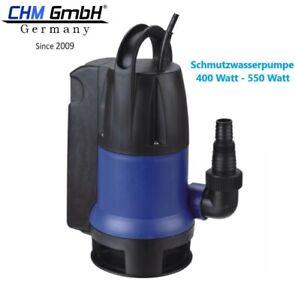 Schmutzwasserpumpe 400 -550 Watt, Tauchpumpe mit autom. Schwimmerschalter