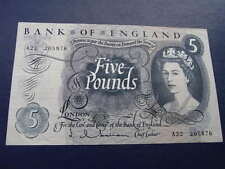 Bank of England £5 note 1963-1966 Issue Hollom A22 series