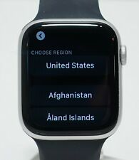 Apple Watch Series 6 Aluminum Case 44mm (GPS) A2292 Silver Navy Solo Loop Band