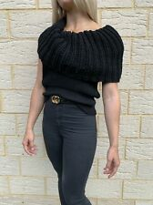 GUCCI Size S Black Knit Sleeveless Top Women's