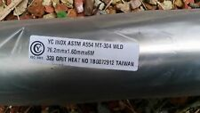 "2m long 3"" INCH (76.2MM) 304 GRADE STAINLESS STEEL EXHAUST PIPE TUBE"